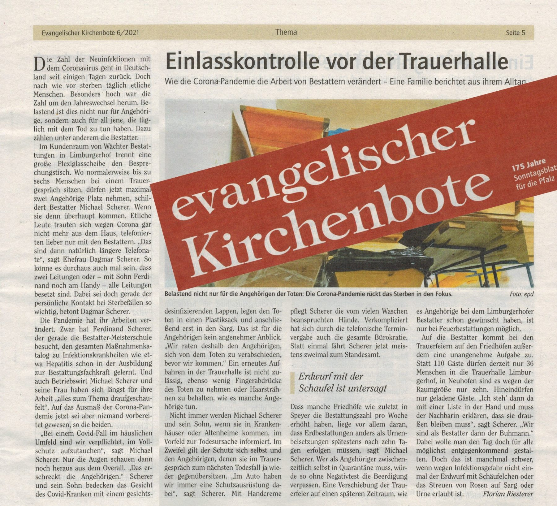 evangelischer Kirchenbote, Ausgabe 6/2021, Sonntag, 7. Februar 2021, Seite 5