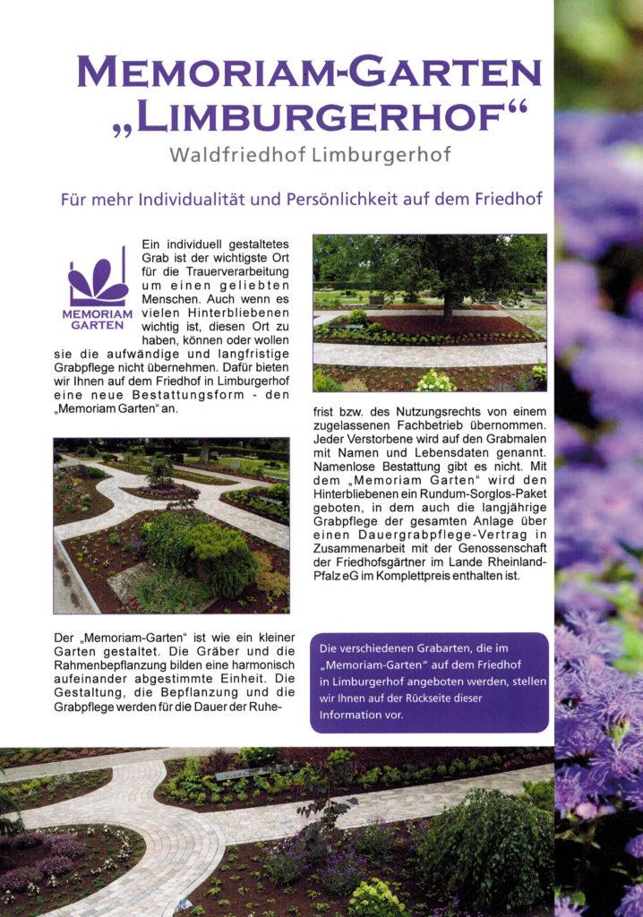 Memoriam Garten Limburgerhof Infoblatt